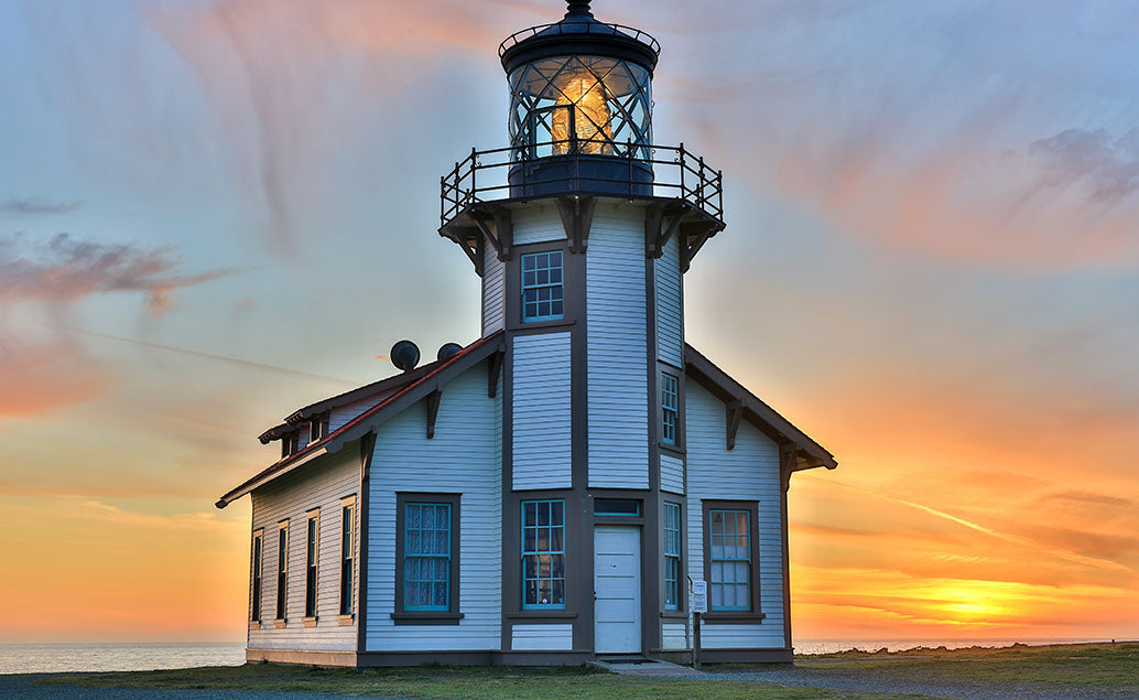 sunset view of lighthouse