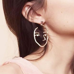 Gold Face Mask Earrings