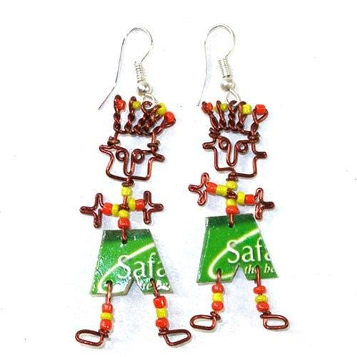 Dancing Boy Phone Card Earrings
