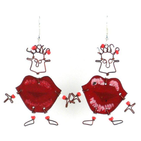 Dancing Girl Kiss Me Earrings