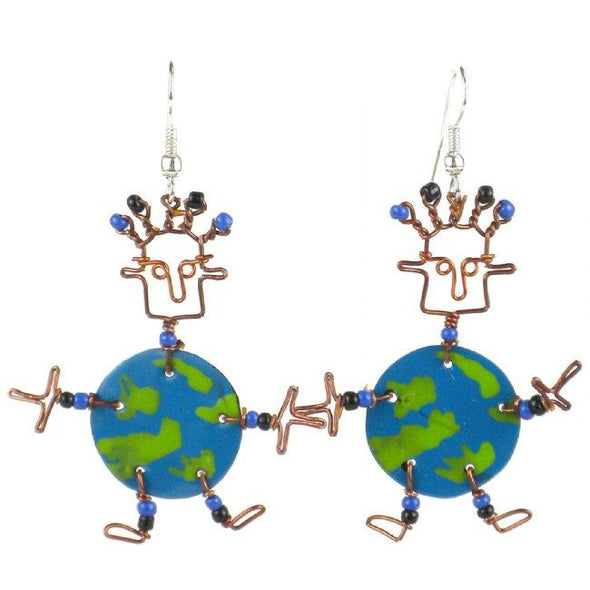 Dancing Girl World Earrings