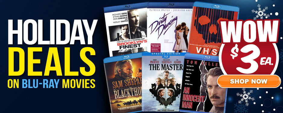 Blu-ray only $3 each
