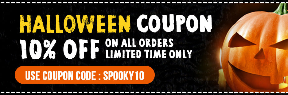 SPOOKY10 10% OFF ALL ORDERS