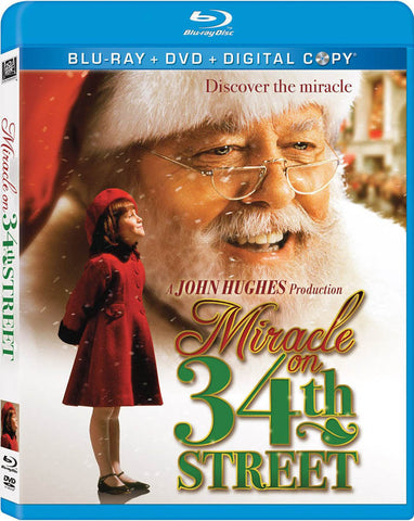 Miracle on 34th Street (Blu-ray + DVD + Digital Copy) (Blu-ray) BLU-RAY Movie