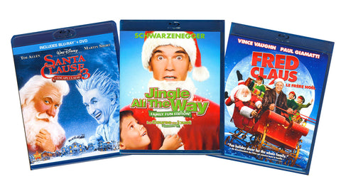 Christmas CollectIon (Santa Clause 3 / Jingle All The Way / Fred Claus) (3 Pack) (Blu-ray) BLU-RAY Movie
