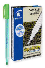 Pilot Spotliter Fluorescent Highlighters, Chisel Tip (Green) Dozen Box