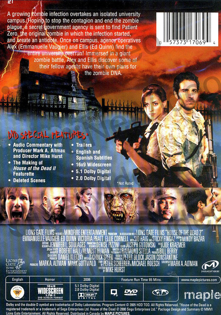 House Of The Dead 2 On Dvd Movie