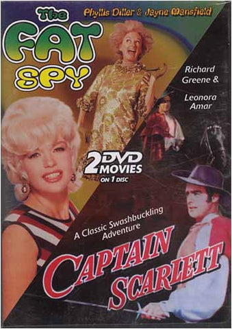 The Fat Spy and Captain Scarlett... 2 DVD Movies on 1 Disc DVD Movie