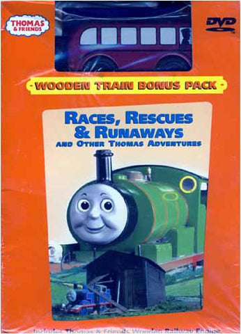 Thomas and Friends - Races, Rescues And Runaways (With Wooden Train) (Boxset) DVD Movie