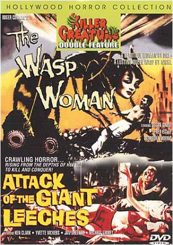 The Wasp Woman - Attack of the Gaint Leeches DVD Movie