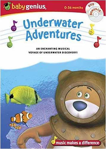 Baby Genius - Underwater Adventures/Bonus Music CD DVD Movie