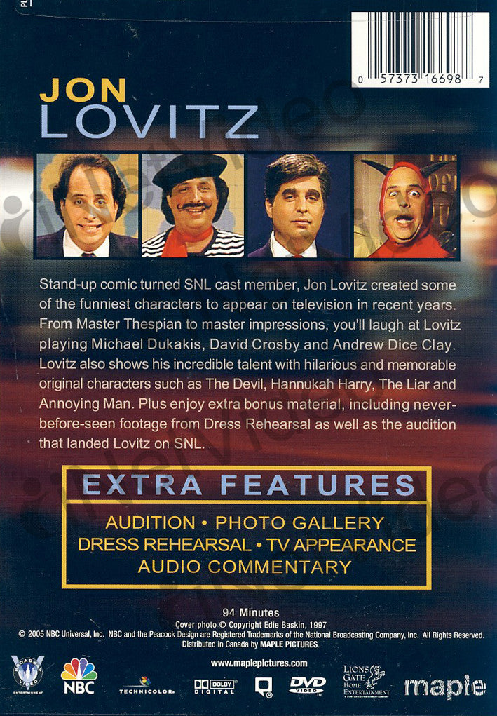 Saturday Night Live - The Best of Jon Lovitz on DVD Movie