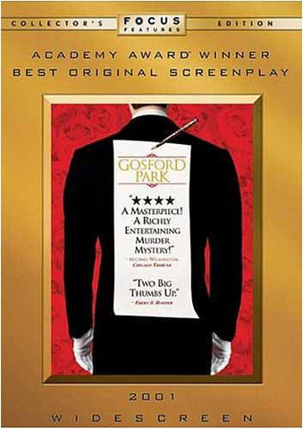 Gosford Park- Collector's Edition DVD Movie