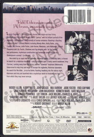 Shadows and Fog (MGM) DVD Movie