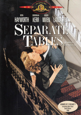 Separate Tables (Bilingual) DVD Movie