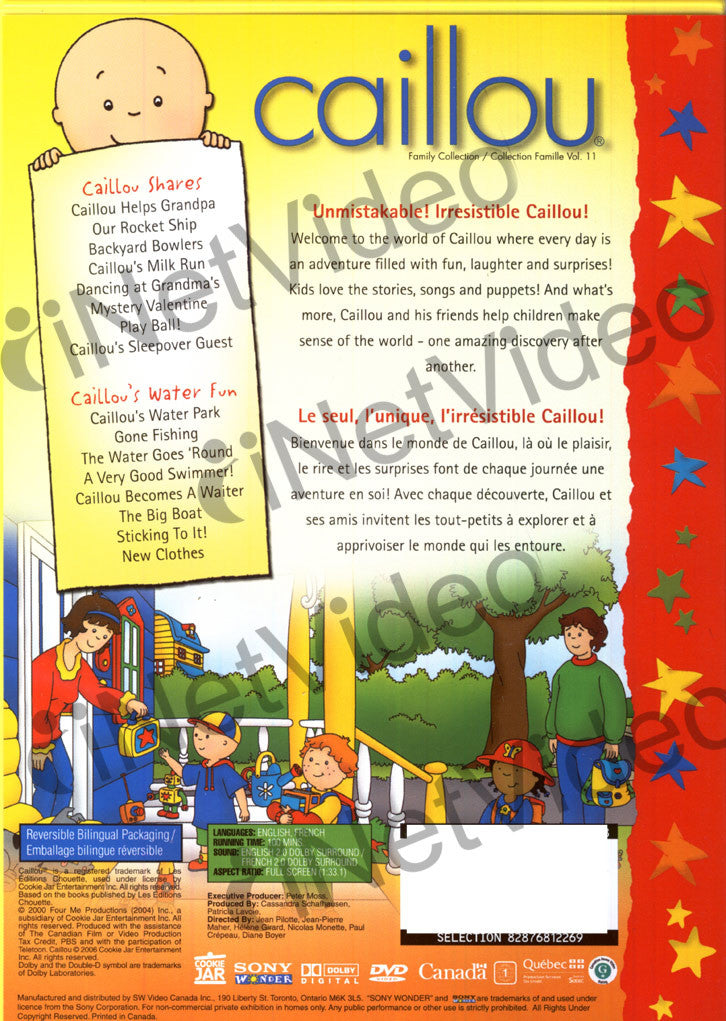 Caillou - Family Collection: Volume 11 (Bilingual) on DVD ...Caillou Family Collection