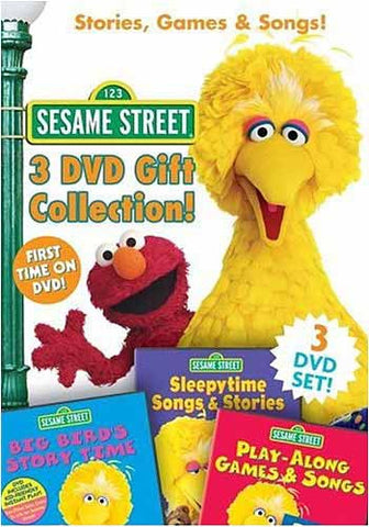 Sesame Street - 3 DVD Gift Collection - Stories Games and Songs (Boxset) DVD Movie