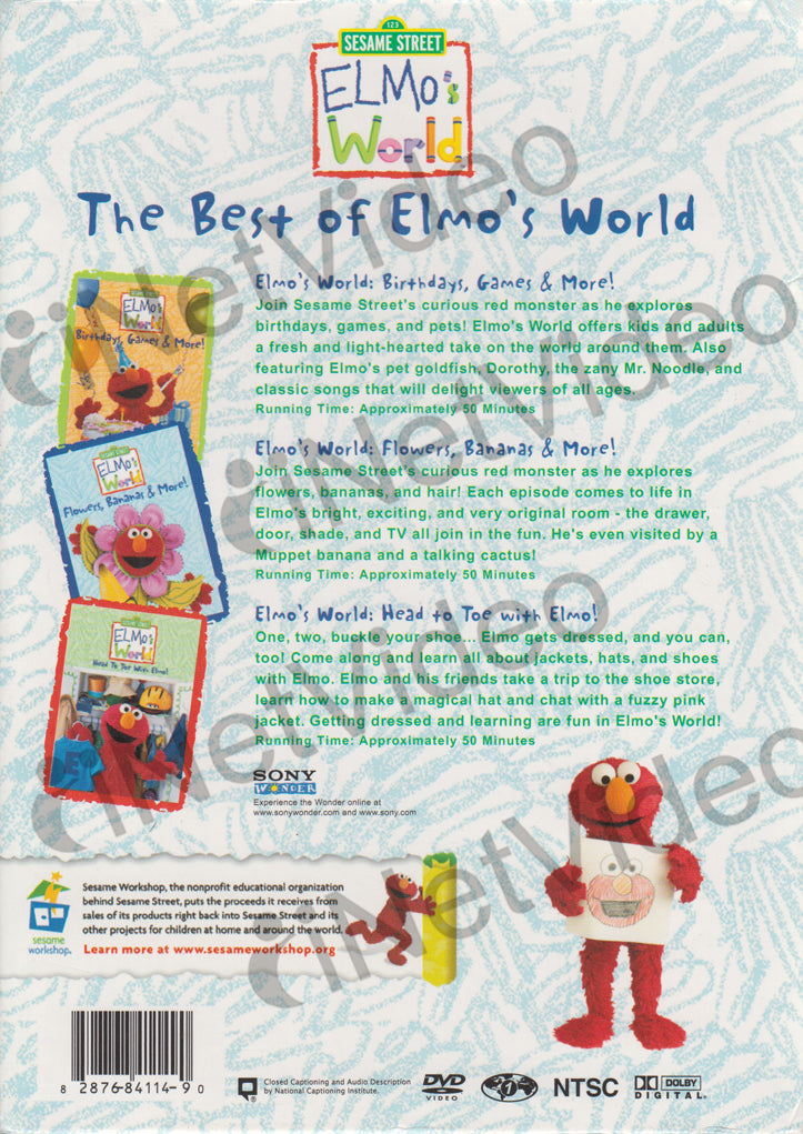 Sesame Street The Best Of Elmo S World Dvd Collection
