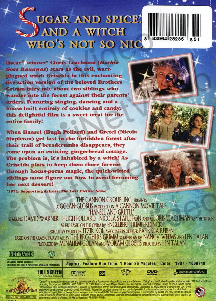 Hansel And Gretel Mgm On Dvd Movie
