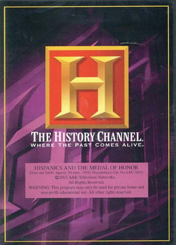 Hispanics and the Medal of Honor Dvd! History Channel - (The History Channel) DVD Movie