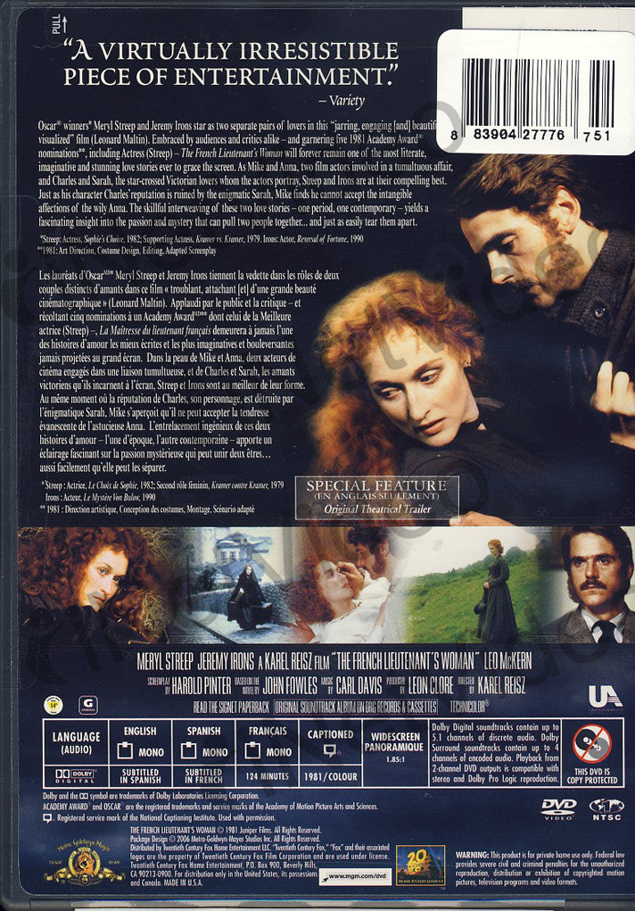 "an overview on the french lieutenants The french lieutenant's woman (1981) is based on john fowles' ""unfilmable""  novel about a victorian love affair between the social outcast."