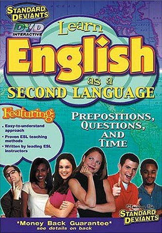 Standard Deviants - ESL (Learn English as a Second Language) - Prepositions, Questions, and Time DVD Movie