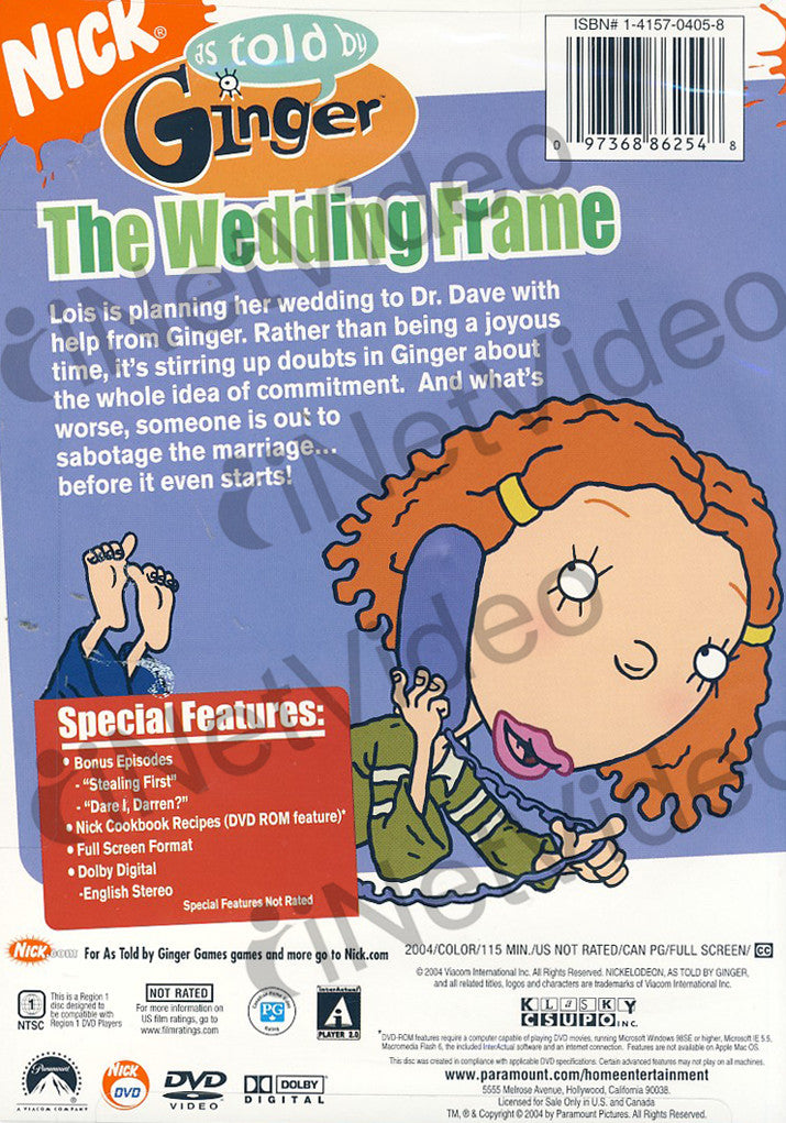 As Told by Ginger - Wedding Frame on DVD Movie