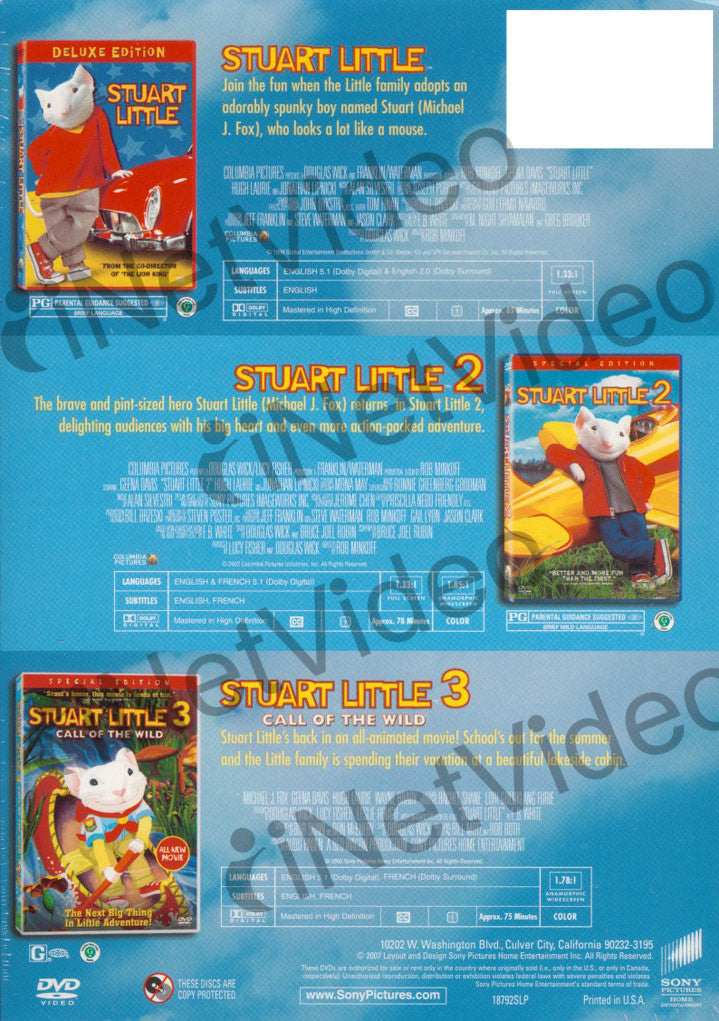 The Stuart Little Stuart Little Stuart Little 2 Stuart Little 3 Movie Collection Boxset On Dvd Movie