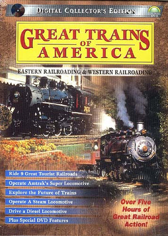 Great Trains of America Eastern and Western Railroading (Boxset) DVD Movie