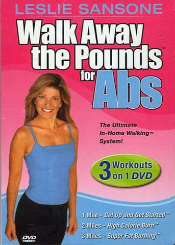 Leslie Sansone - Walk Away the Pounds for Abs (3 Workouts on 1) DVD Movie