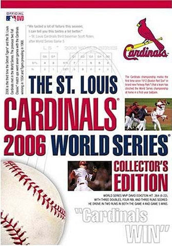 The St. Louis Cardinals 2006 World Series Collector's Edition (Boxset) DVD Movie