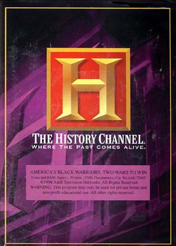 America's Black Warriors - Two Wars to Win - The History Channel DVD Movie