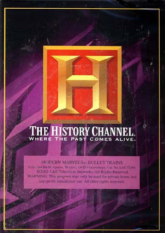 Modern Marvels - The Bullet Trains - The History Channel DVD Movie