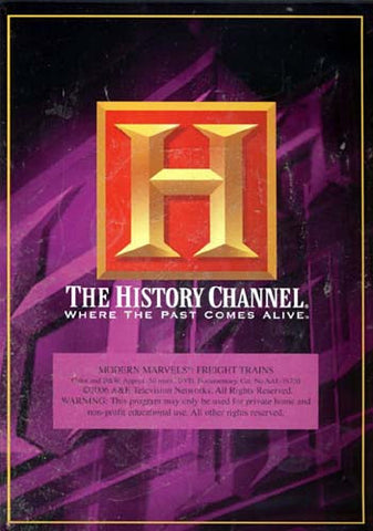 Modern Marvels - Freight Trains - The History Channel DVD Movie