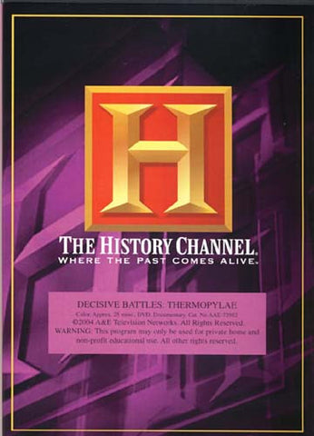 Decisive Battles - Thermopylae - The History Channel DVD Movie