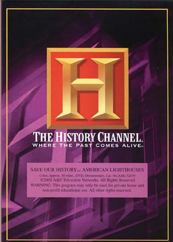 Save Our History - American Lighthouses - The History Channel DVD Movie