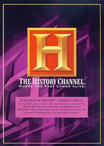 In Search Of History - Ancient Drugs - The History Channel DVD Movie