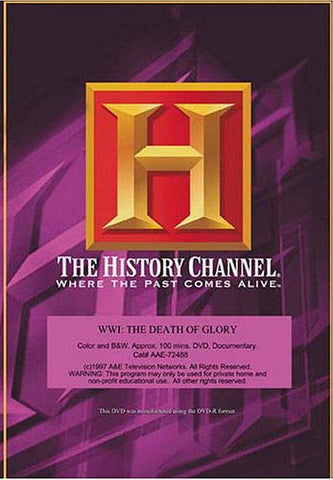 WWI - The Death Of Glory DVD Movie