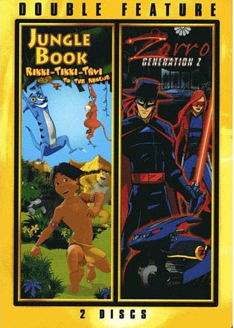 Jungle Book Rikki-Tikki-Tavi To The Rescue / Zorro Generation Z (Double Feature) DVD Movie