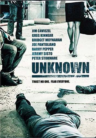 Unknown (Jim Caviezel) DVD Movie