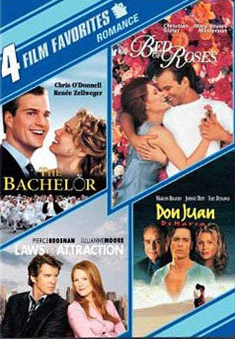 The Bachelor / Bed of Roses / Laws of Attraction / Don Juan DeMarco 4 Film Favorites Romantic Comedy DVD Movie
