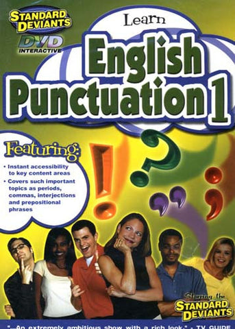 Standard Deviants: Learn English Punctuation 1 DVD Movie