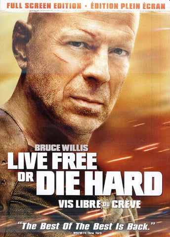 Live Free or Die Hard (Vis Libre Ou Creve)(Full Screen Edition)(bilingual) DVD Movie