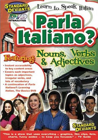 Standard Deviants - Parla Italiano - Nouns, Verbs And Adjectives DVD Movie