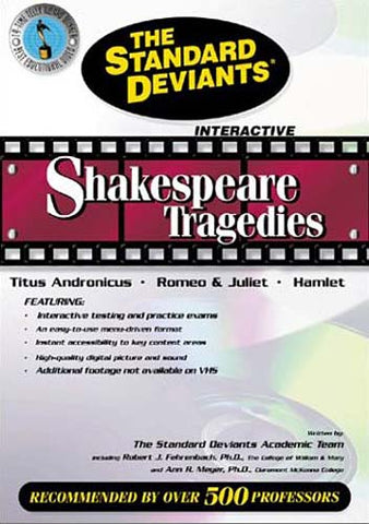 Standard Deviants - Shakespeare Tragedies - Titus Andronicus, Romeo & Juliet, Hamlet DVD Movie