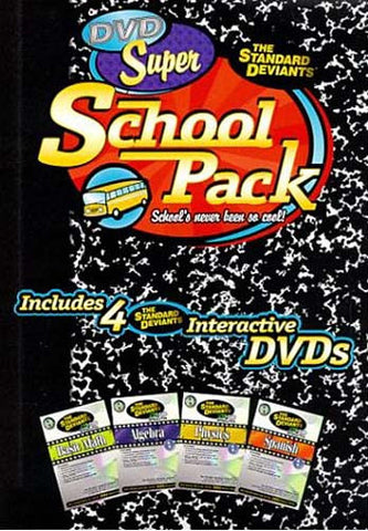 Standard Deviants - Super School Pack (Algebra 1/Spanish 1/Basic Math/Physics 1) (Boxset) (USED) DVD Movie