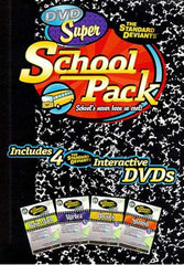 Standard Deviants - Super School Pack (Algebra 1/Spanish 1/Basic Math/Physics 1) (Boxset)