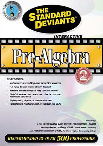The Standard Deviants - Pre-Algebra - Part 2 DVD Movie