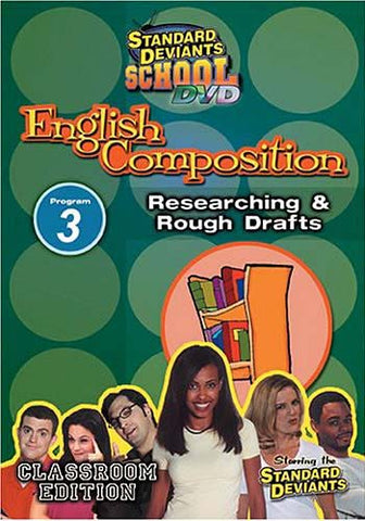 Standard Deviants School - English Composition - Program 3 - Researching and Rough Drafts DVD Movie