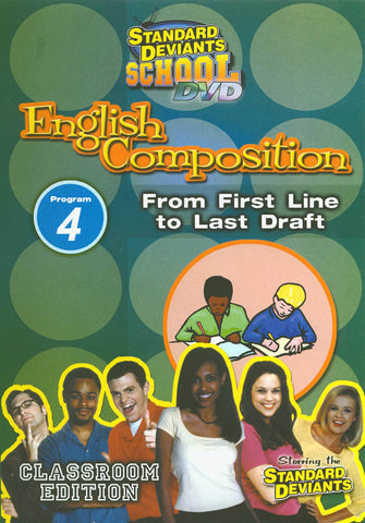 Standard Deviants School - English Composition - Program 4 - From First Line to Last Draft DVD Movie